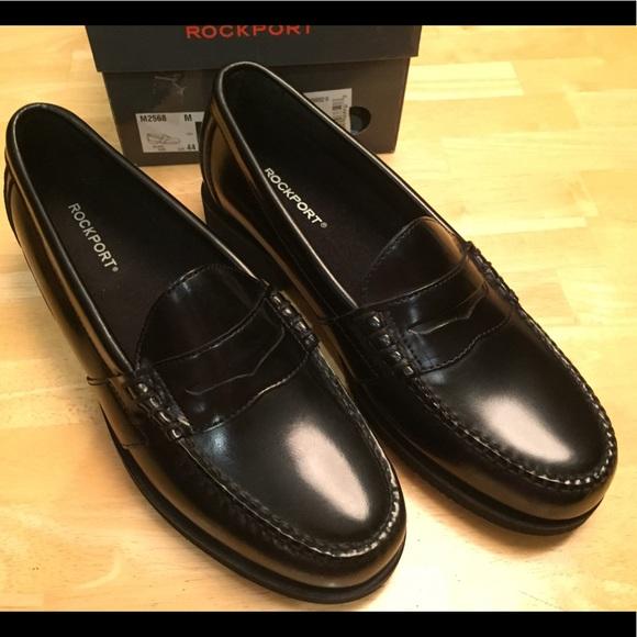 ccfd1ea12d1 Rockport NEW Men s black penny loafers
